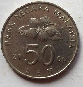 Second Series 50 sen coin 2000
