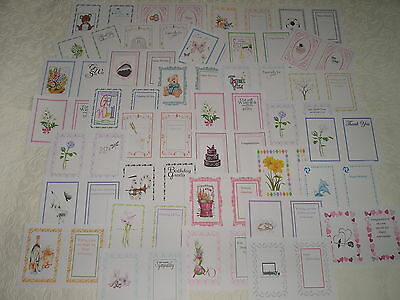 assorted designs for all occasions partycascades GREETING CARD INSERTS A4