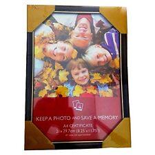 A4 Zertifikat Foto Bilder Rahmen Schwarz, Silber, Bronze, Gold 21x29.7cm