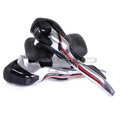 microSHIFT CENTOS Road Bike STI Shifters 3 x 10 speed Silver