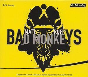 Matt-Ruff-BAD-MONKEYS-5-CD-NEU-Thriller-Hoerbuch-CDs