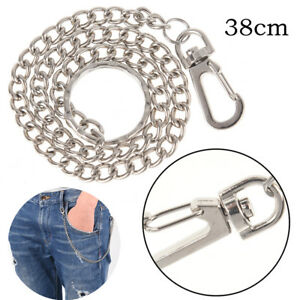 New-Men-Silver-Casual-Chunky-Metal-Extra-Long-Wallet-Chains-KeyChain-Biker-Je-YA
