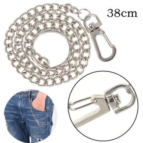 Extra Long Strong Metal hipster Key Wallet Belt Ring Clip Chain keychainZZ