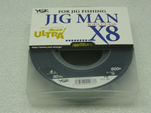 YGK Jig Man IGFA CLASS X8 8 tressé polyéthylène ligne 4 Spectra #4 50 LB 600 M MADE IN JAPAN environ 22.68 kg