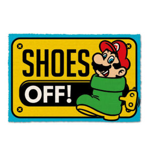 Super-Mario-Fussmatte-Shoes-Off-40-x-60-cm-NEU-amp-OVP