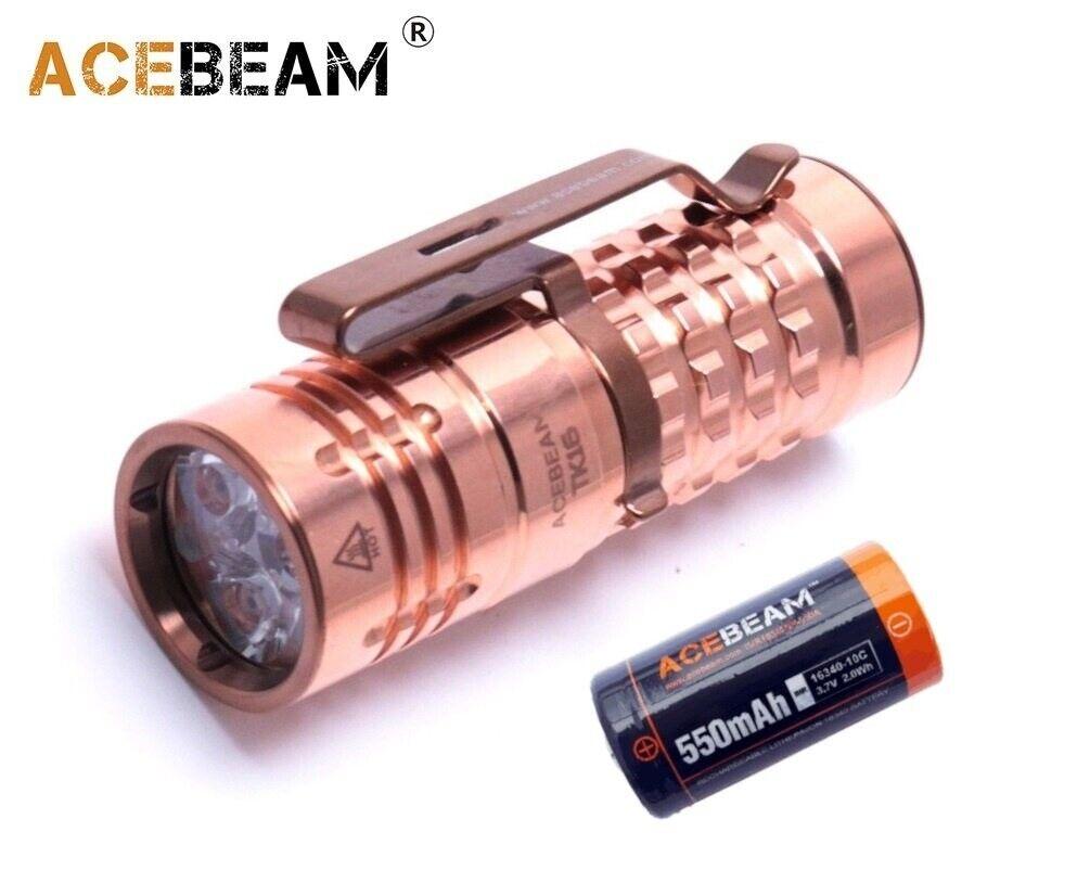 NUOVO Acebeam TK16 CU Rame OSRAM 1300 LUMEN Torcia LED con Batteria