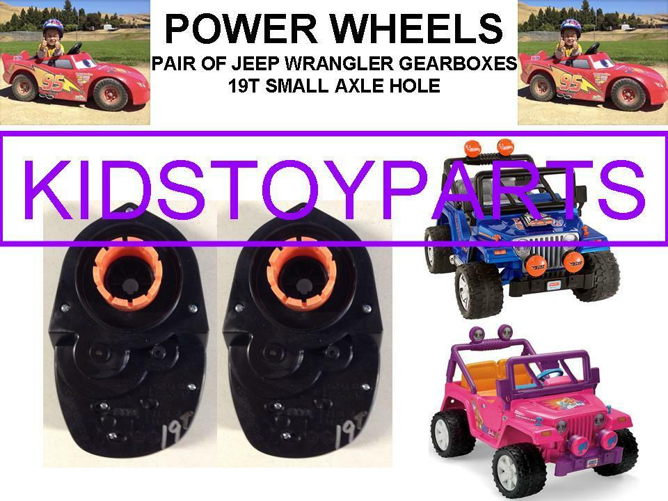(2X) 19T POWER WHEELS R GEARBOX WRANGLER JEEP WITH 10 3 4  TIRES