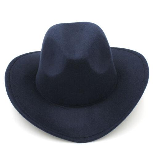 Men Women Kid Children Panama Hat Cowboy Western Cap Sombrero Fedora Sunhat Wool