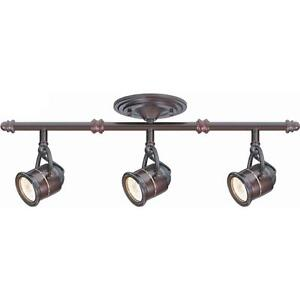 Image is loading 3-Light-Ceiling-Bar-Track-Lighting-Kit-Antique-  sc 1 st  eBay & 3-Light Ceiling Bar Track Lighting Kit Antique Bronze Finish Spot ...