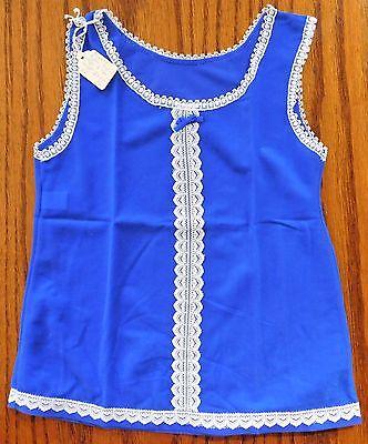 Girls petticoat BRI nylon slip Age 2 UNUSED vintage 1970s Ladybird royal blue
