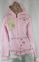 Girls Juniors David & Goliath Show Me The Honey Pink Zip Hoodie Sweatshirt