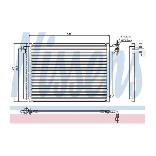 Fits BMW X5 E53 3.0i Genuine OE Quality Nissens A//C Air Con Condenser