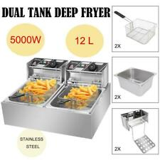 5000w Extra Large Electric Deep Fryer Commercial Restaurant Fry Basket 12l