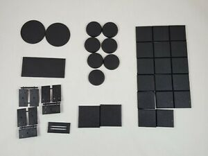 Lot-of-Warhammer-Bases-Large-Round-Square-Various-Sizes
