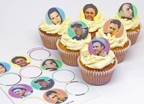 Cakeshop 12 x Pre-Cut Assorted Olly Murs comestibles gâteau Toppers