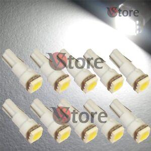 10-LED-T5-SMD-BIANCO-Lampade-Luci-Lampadine-Posizione-Per-Fari-Angel-Eyes-Quadro