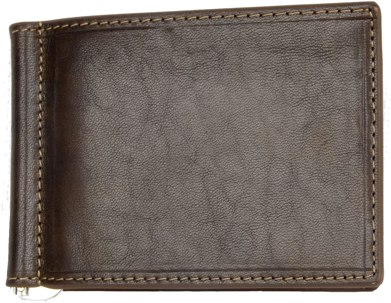 Exclusive Brown Italian Small Genuine Leather Wallet Without Coin Pocket