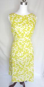 Women-039-s-60-039-s-vintage-retro-039-Berkertex-039-green-print-mod-aline-dress-8-10UK-AU