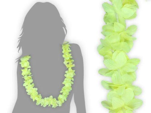 Hawaiikette Neon Gelb Blumenkette Hawai Feier 07 Beach-Party Hula Geburtstag JGA