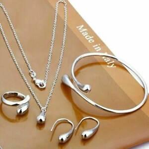 Women-Girls-Valentine-039-s-Gift-Jewelry-Set-Gift-Necklace-Bracelet-amp-Earrings-Ring