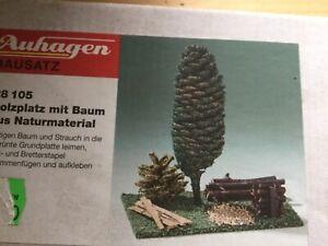 Symbole De La Marque Scierie Avec Arbre De Nature Matériau Auhagen-afficher Le Titre D'origine Utilisation Durable