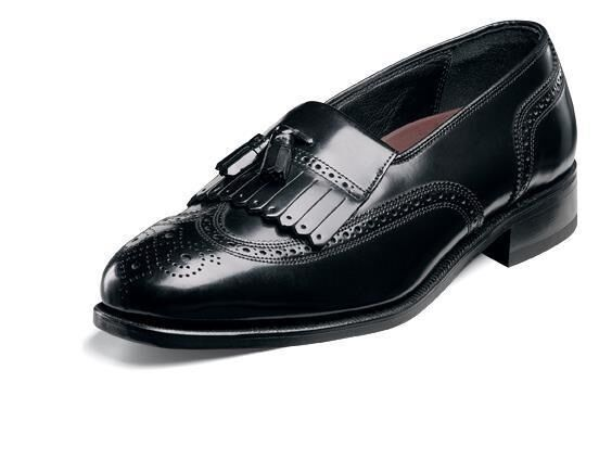 Florsheim Noir Hommes Lexington Mocassins Cuir Gland à Enfiler Confortable