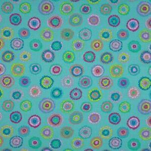 Free-Spirit-Kaffe-Fassett-Plink-GP109-Turquoise-Contemporary-Cotton-Fabric-BTY