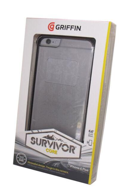 pretty nice 30a6f 4674c Griffin Survivor Core Case for Apple iPhone 6 6s Plus Black Clear GB40551