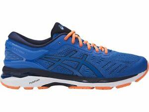 Asics-Gel-Kayano-24-Blue-Orange-Men-Running-Shoes-Sneakers-T749N-4358