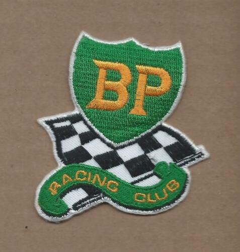 NEW 2 3//4 X 3 INCH BP RACING CLUB IRON ON PATCH FREE SHIPPING