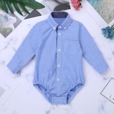 d08bd6f5a656 Baby Boys Outfits Long Sleeve Plaid Bodysuit Jean Pant Blue 0 3m for ...