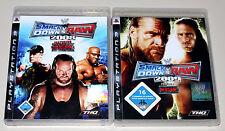 2 PS3 SPIELE BUNDLE - SMACKDOWN VS RAW 2008 & 2009 - PLAYSTATION WRESTLING ECW