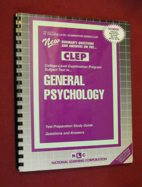 CLEP: General Psychology : Passbooks Study Guide by Jack Rudman (2018 Spiral)NEW