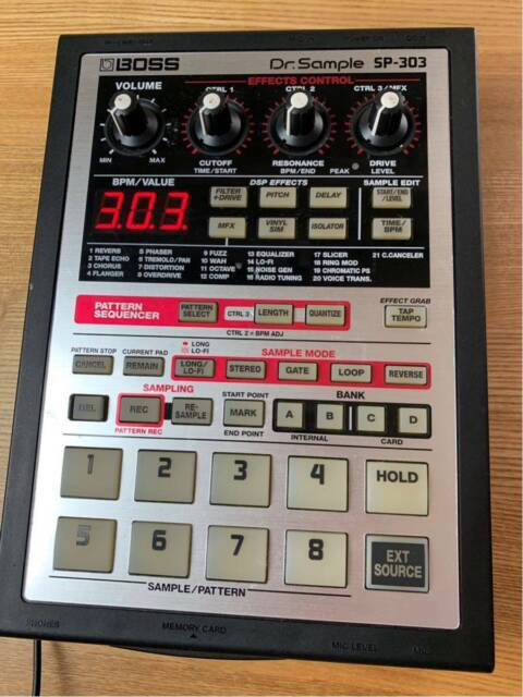 BOSS SP-303 Dr.Sample Sampler with Power Supply Pro Audio Equipment
