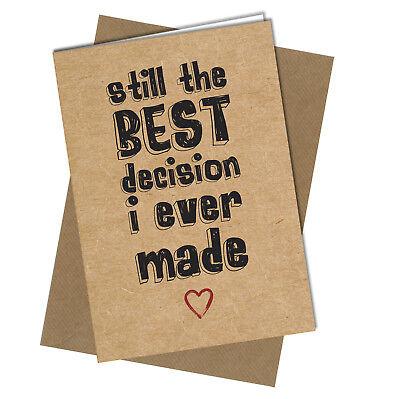 CUTE ANNIVERSARY// VALENTINES //BIRTHDAY CARD// LOVE VINTAGE Best Decision BK