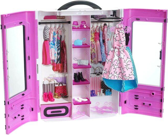 Barbie Fashionistas Ultimate Closet Violet Armoire Portable Vêtements Robe Shoes