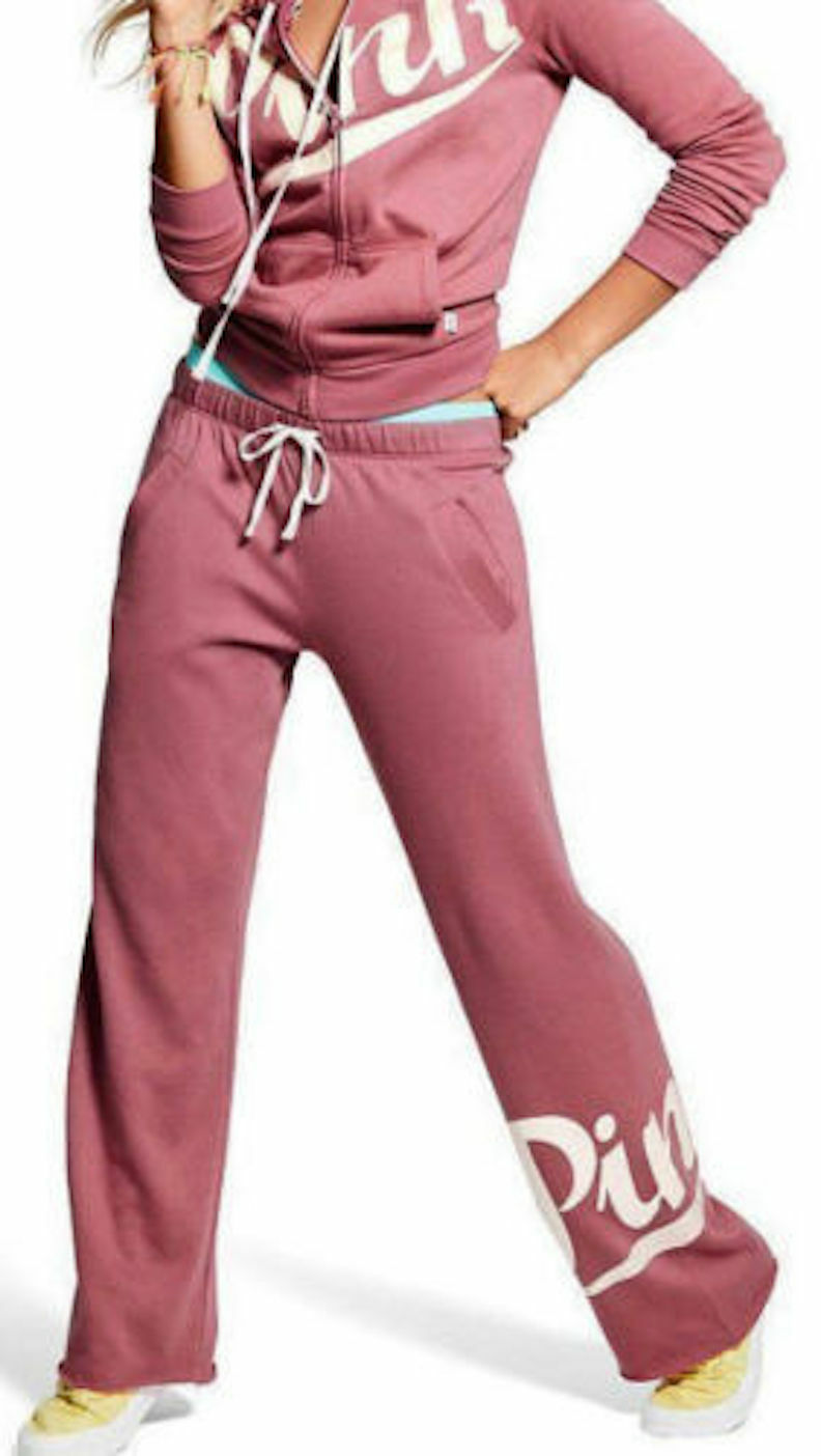 Pink By Victoria's Secret Boyfriend Fit Pant color Soft Begonia XSmall NWT