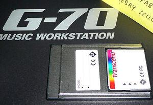 Agressif Carte Mémoire Pour Roland G70 G-70 Adaptateur Avec Styles, Midi Chansons & Upg Pcmcia Srx-afficher Le Titre D'origine BéNéFique à La Moelle Essentielle