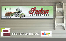 Indian Chief Motorcycle, Banner for Workshop, Garage, Man Cave, 1300mm x 325mm
