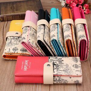 Women-Ladies-Fashion-PU-Leather-Wallet-Long-Purse-Card-Holder-Bag-Clutch-Handbag