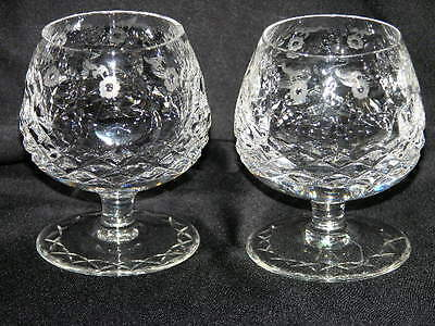 Two Rogaska Gallia Crystal Brandy Cognac Snifter Glasses New Barware 4 1/8""