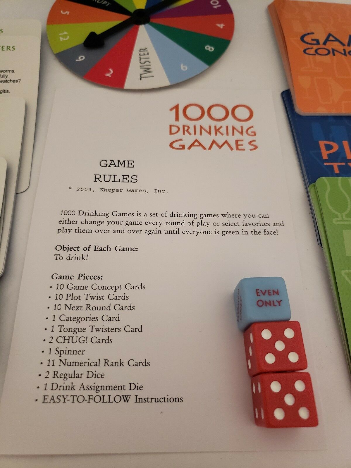 1000 Drinking Dames Kheper Games Board Dice Party Fun Gag Adult 21 Gift Beer