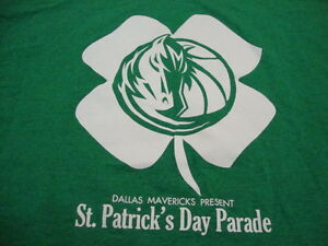 NBA-Dallas-Mavericks-Basketball-Fan-St-Patrick-039-s-Day-Parade-Green-T-Shirt-2XL