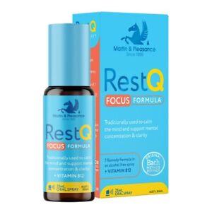 RestQ Focus Formula 25mL Oral Spray Mental Concentration & Clarity Rescue Remedy