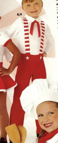 NWT STRIPED Peppermint Kid Dance Costume Jumpsuit Red White Child Sizes unisex