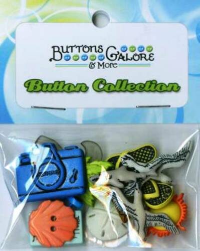 Buttons Galore Seaside Button Bag Package of 13 Sewing Beach Themed