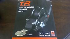 TR Industrial 1200 lb Trailer Winch with Pre-Installed 20 ft Strap and Hook