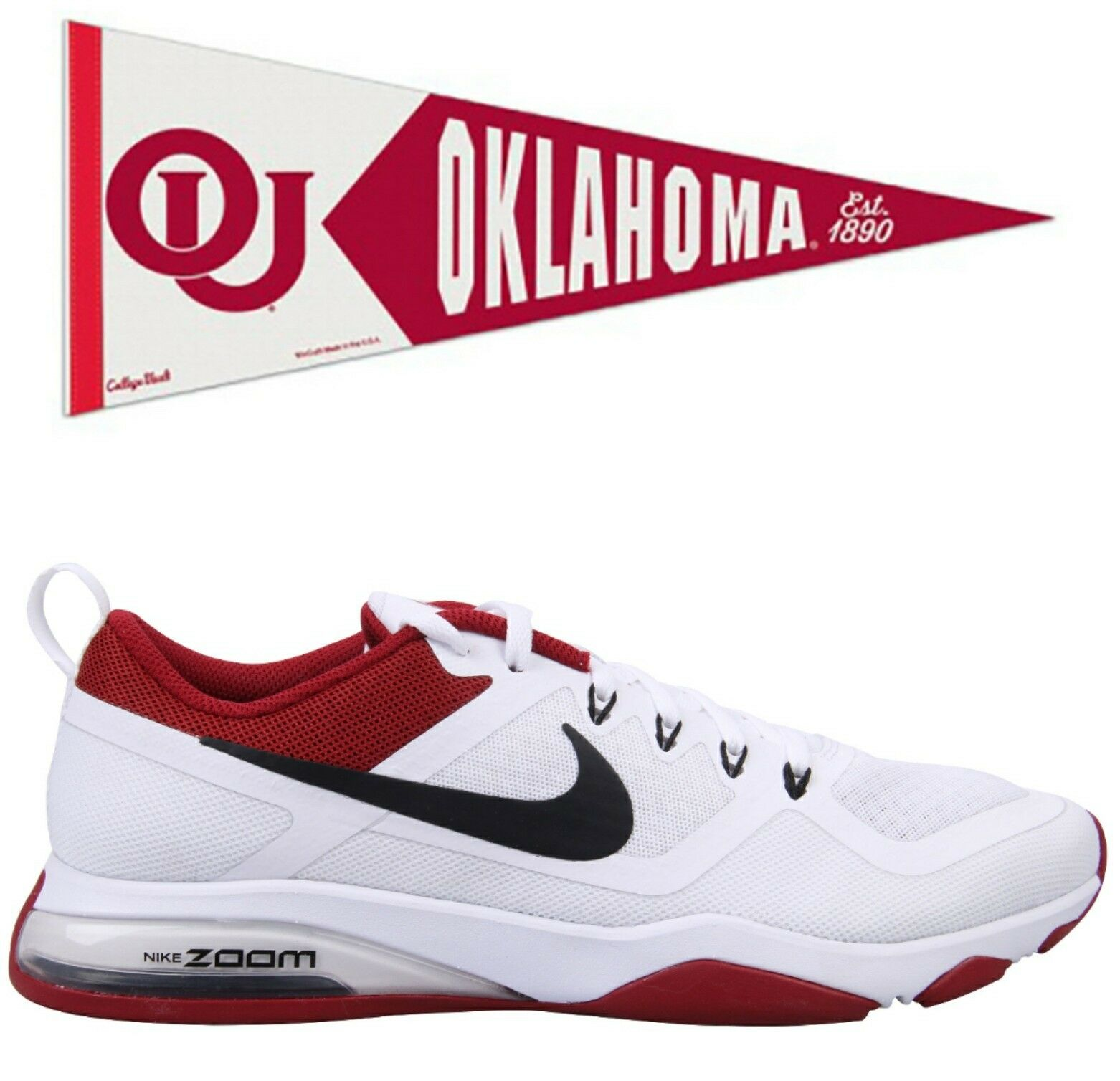 NEW Wmn's SZ 8.5, NIKE Air Zoom Fitness OU, Oklahoma Sooners Colors. 905897-106