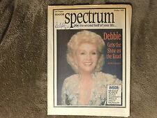 Senior Spectrum Newspaper Debbie Reynolds Autographed Cover Unsinkable Dinamo