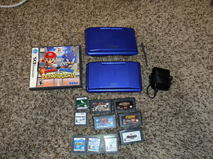 2-Nintendo-DS-PHAT-Blue-NTR-001-Great-Condition-Original-With-Charger-GAMES